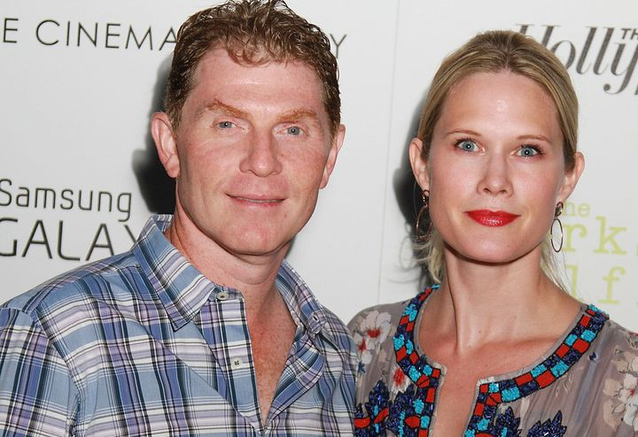EAST HAMPTON, NY - SEPTEMBER 02:  Bobby Flay and Stephanie March attend The Cinema Society, The Hollywood Reporter And Samsun