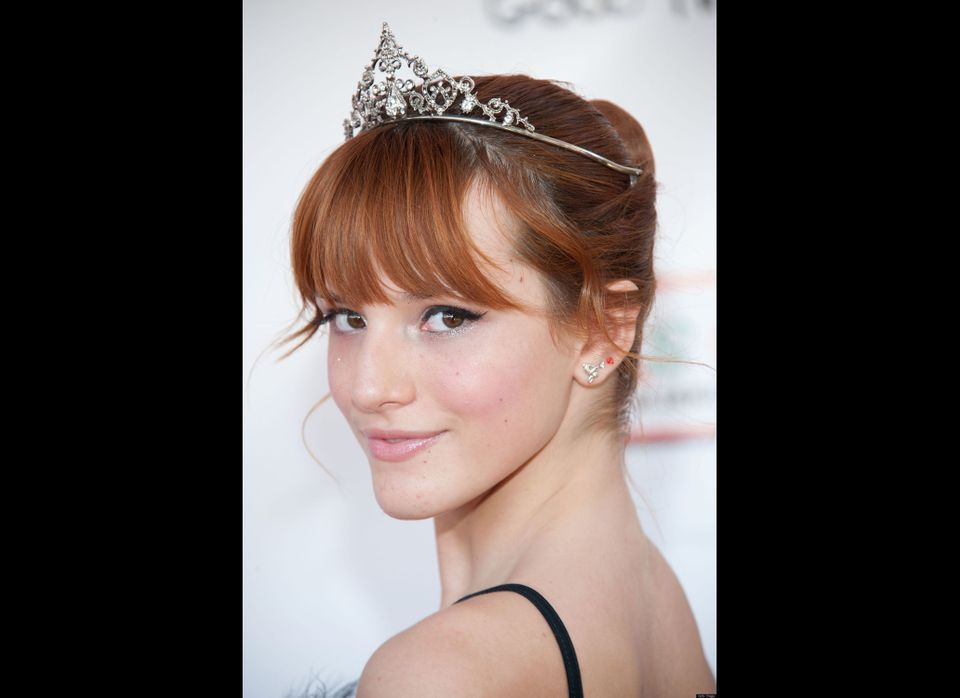 <em>Shake It Up</em> star Bella Thorne took to Twitter to show off her new second ear piercing in December.