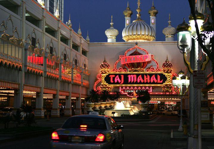 <p>The Trump Taj Mahal Hotel and Casino in Atlantic City, New Jersey.</p>