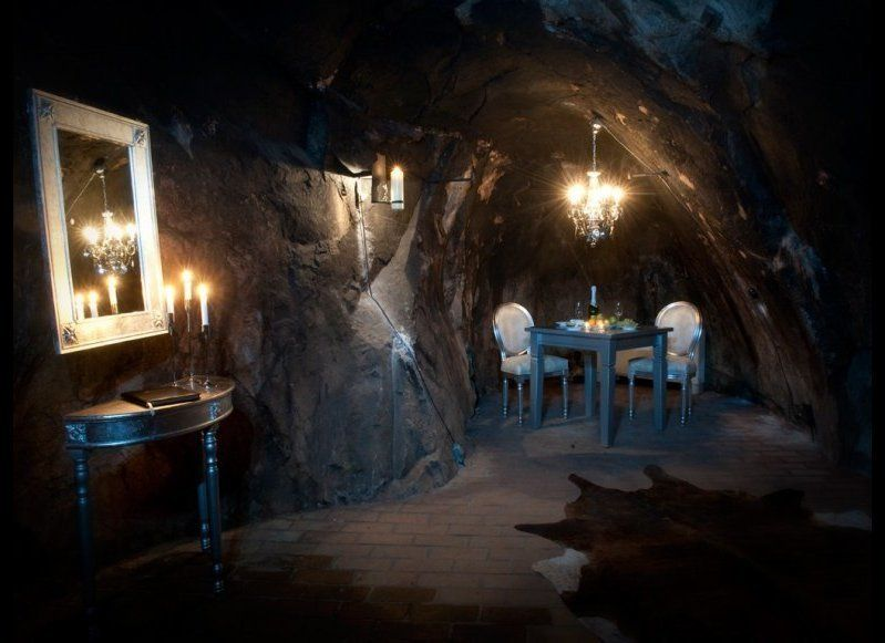 SALA SILVER MINE HOTEL Sala, Sweden  This hotel has only one room—The Mine Suite—situated in what used to be an operating