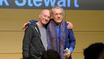 NEW YORK, NY - JANUARY 28: Patrick Stewart and Ian McKellen speak at John L. Tishman Auditorium at University Center on January 28, 2014 in New York City.  (Photo by Ilya S. Savenok/Getty Images for SAG Foundation)