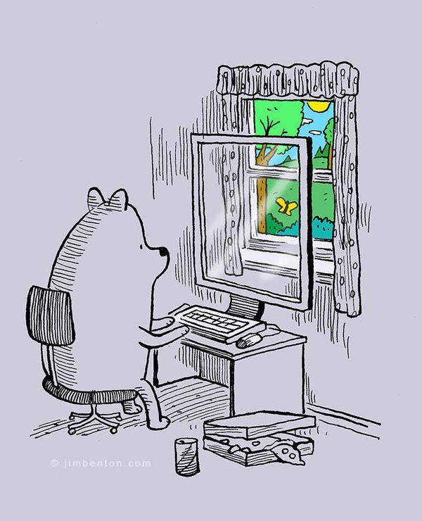 technology society addiction cartoons benton jim satirical illustrations take today tech todays cheek tongue looks site hilariously skewer true izismile