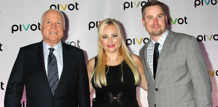 Meghan McCain, center, blasted Donald Trump for criticizing her father's military record.