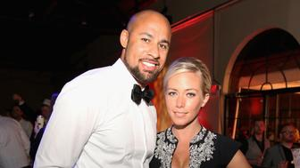 LOUISVILLE, KY - MAY 01:  Hank Baskett and Kendra Wilkinson attend Black Rock Thoroughbreds Presents 5th Annual Fillies & Stallions Sponsored By Red Bull And Tito's Vodka on May 1, 2015 in Louisville, Kentucky.  (Photo by Robin Marchant/Getty Images)