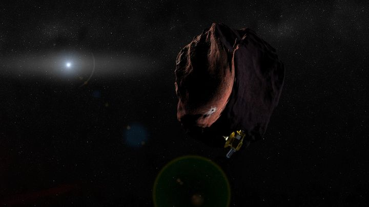 <span>Artist's impression of the New Horizons spacecraft encountering a Kuiper Belt Object, as part of an extended mission af