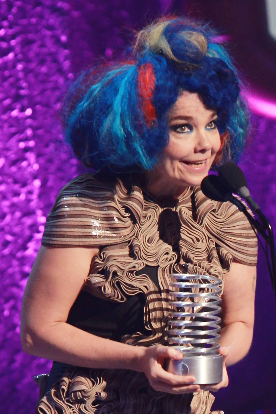 At 47, Björk continues to evolve. Born in Iceland, she formed a punk band at age 14 and has been remaking herself -- again an