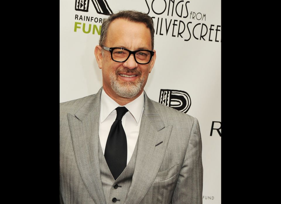 Tom Hanks on the red carpet in 2012.