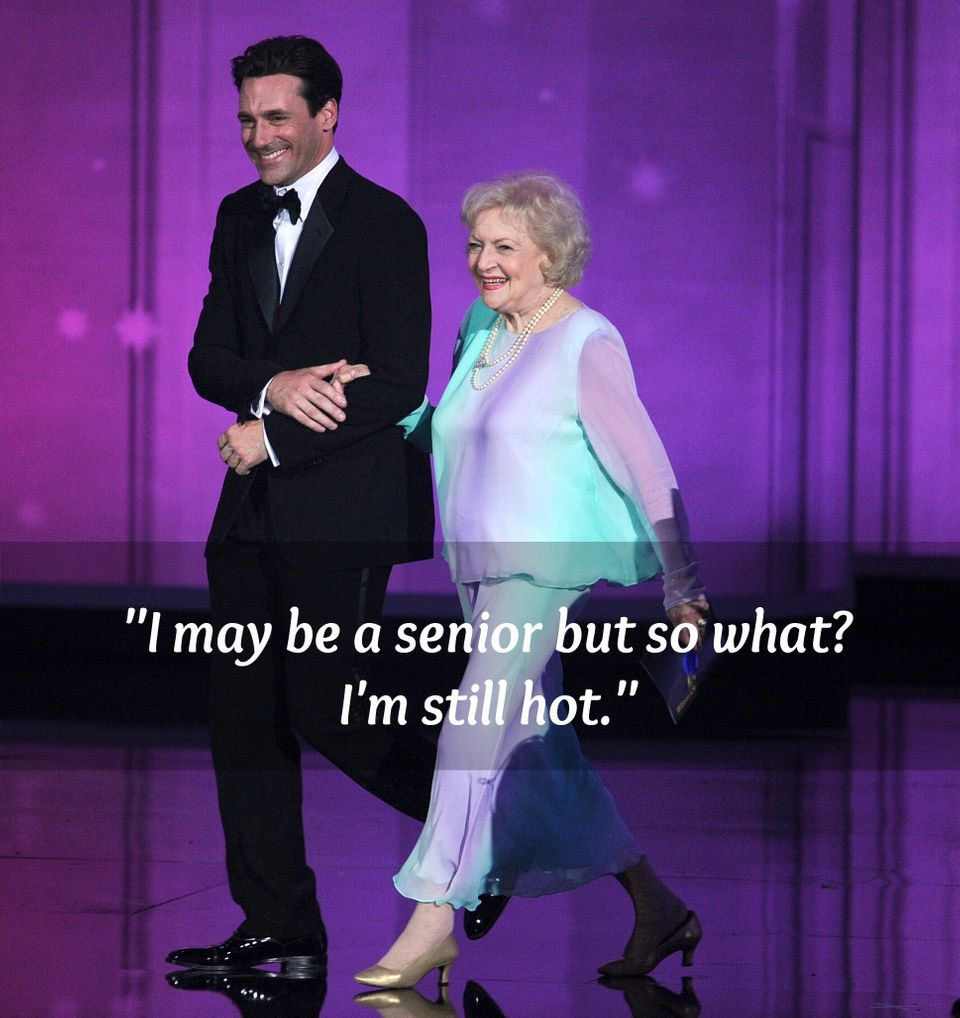 "Betty White rapped this line in her rendition of British pop star Luciana's club anthem, ""<a href=""http://www.huffingtonpost."