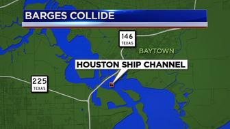 Barges collide in Houston Ship Channel