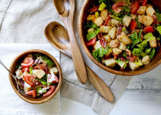 "<strong>Get the <a href=""http://www.annies-eats.com/2012/08/01/blt-panzanella/"" target=""_blank"">BLT Panzanella Salad recipe</"