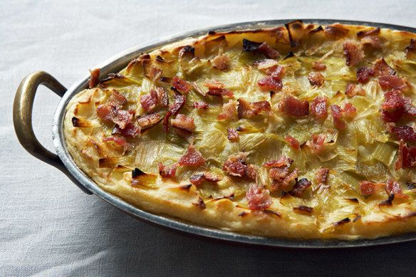 "<strong>Get the <a href=""http://food52.com/recipes/14523-potato-mash-with-leek-confit-and-bacon"" target=""_blank"">Potato Mash"
