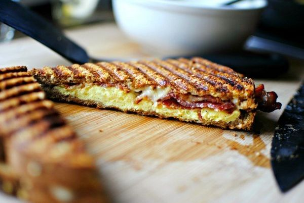 "<strong>Get the <a href=""http://www.simplyscratch.com/2012/09/bacon-and-eggs-breakfast-panini.html"" target=""_blank"">Bacon and"