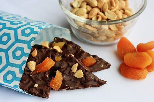 "<strong>Get the<a href=""http://notyourmommascookie.com/2012/04/chocolate-bacon-bark-with-peanuts-and-apricot/"" target=""_hplin"