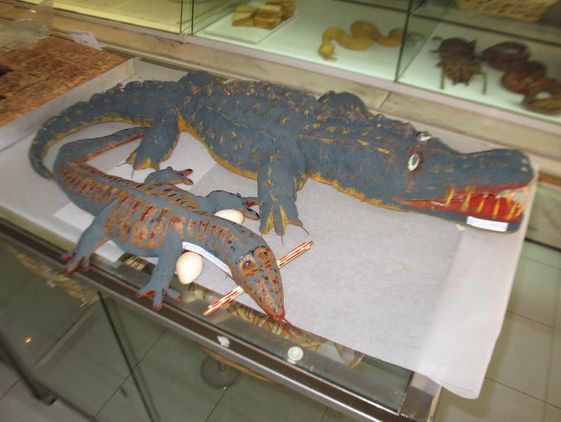 Crocodile bread at Kri Kri bakery in Athens.