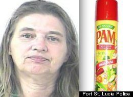 Barbara Hall was involved in a bedroom romp with her boyfriend when he asked her if she had brought PAM cooking spray, which