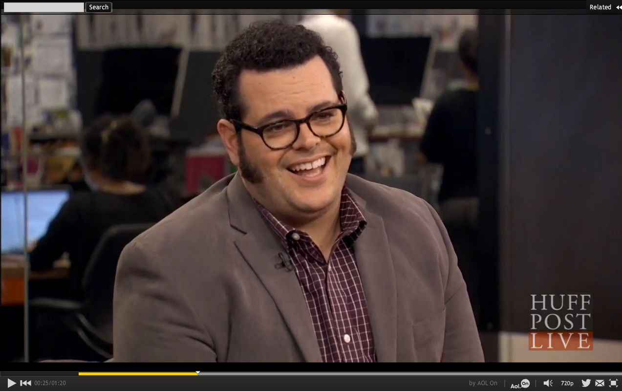 Josh Gad talks with HuffPost Live on July 20, 2015.