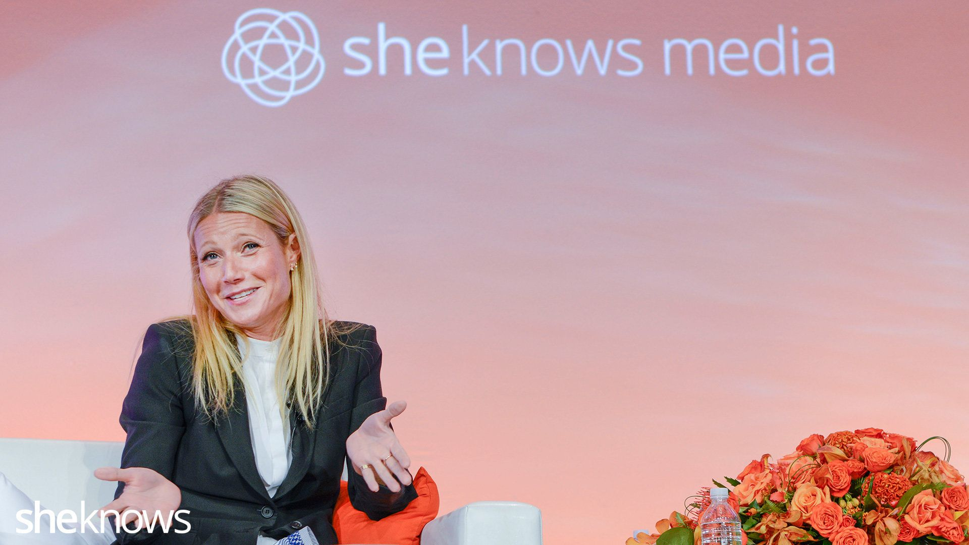 Gwyneth Paltrow is interviewed by Elisa Camahort-Page  at the Blogher15 Conference at the Hilton Hotel, New York, July 16, 2015.   Photos By Tiffany Hagler-Geard/Sheknows