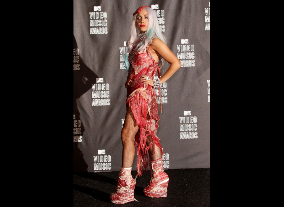 Lady Gaga poses in the press room during the MTV Video Music Awards at NOKIA Theatre L.A. LIVE on September 12, 2010 in Los A