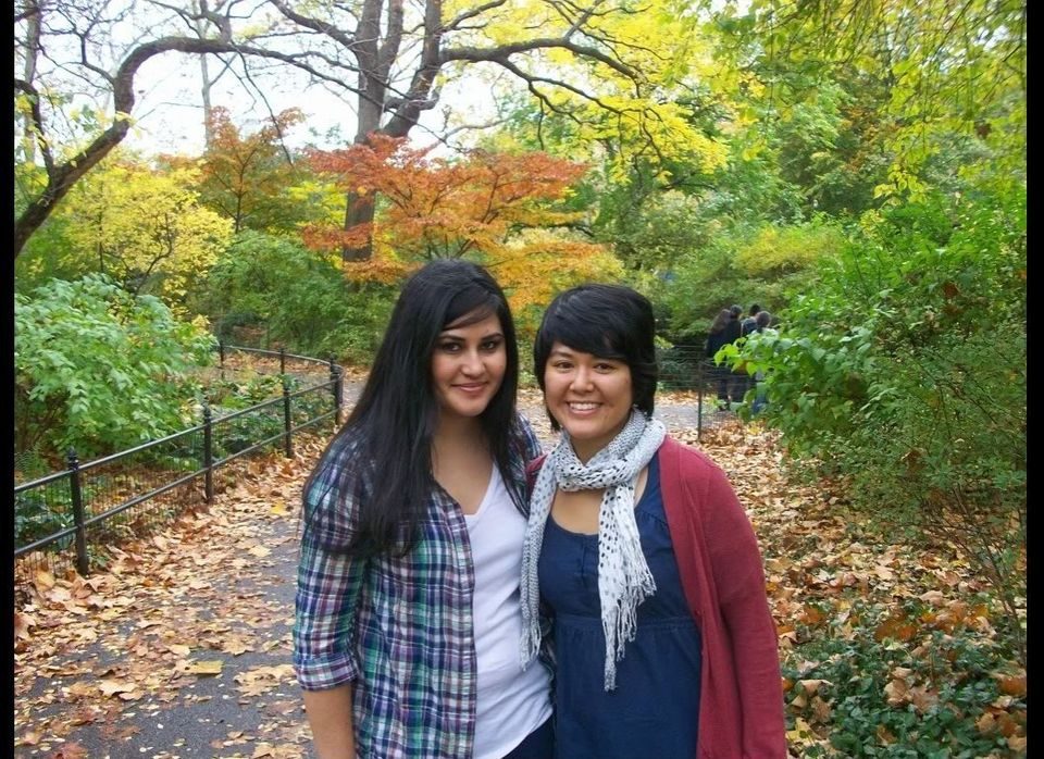 Cinthya and Tam at Central Park in New York, 2009. Courtesy of the Felix family.
