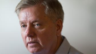 WATERLOO, IA - JUNE 05:  Republican presidential hopeful Sen. Lindsey Graham (R-SC) speaks at a campaign stop at Veteran of Foreign  Wars (VFW) Post 1623 on June 5, 2015 in Waterloo, Iowa. Graham is scheduled to join other Republican presidential contenders tomorrow during a Roast and Ride event hosted by freshman Sen. Joni Ernst (R-IA).The event will feature a motorcycle tour, a pig roast, and speeches from 2016 presidential hopefuls.  (Photo by Scott Olson/Getty Images)