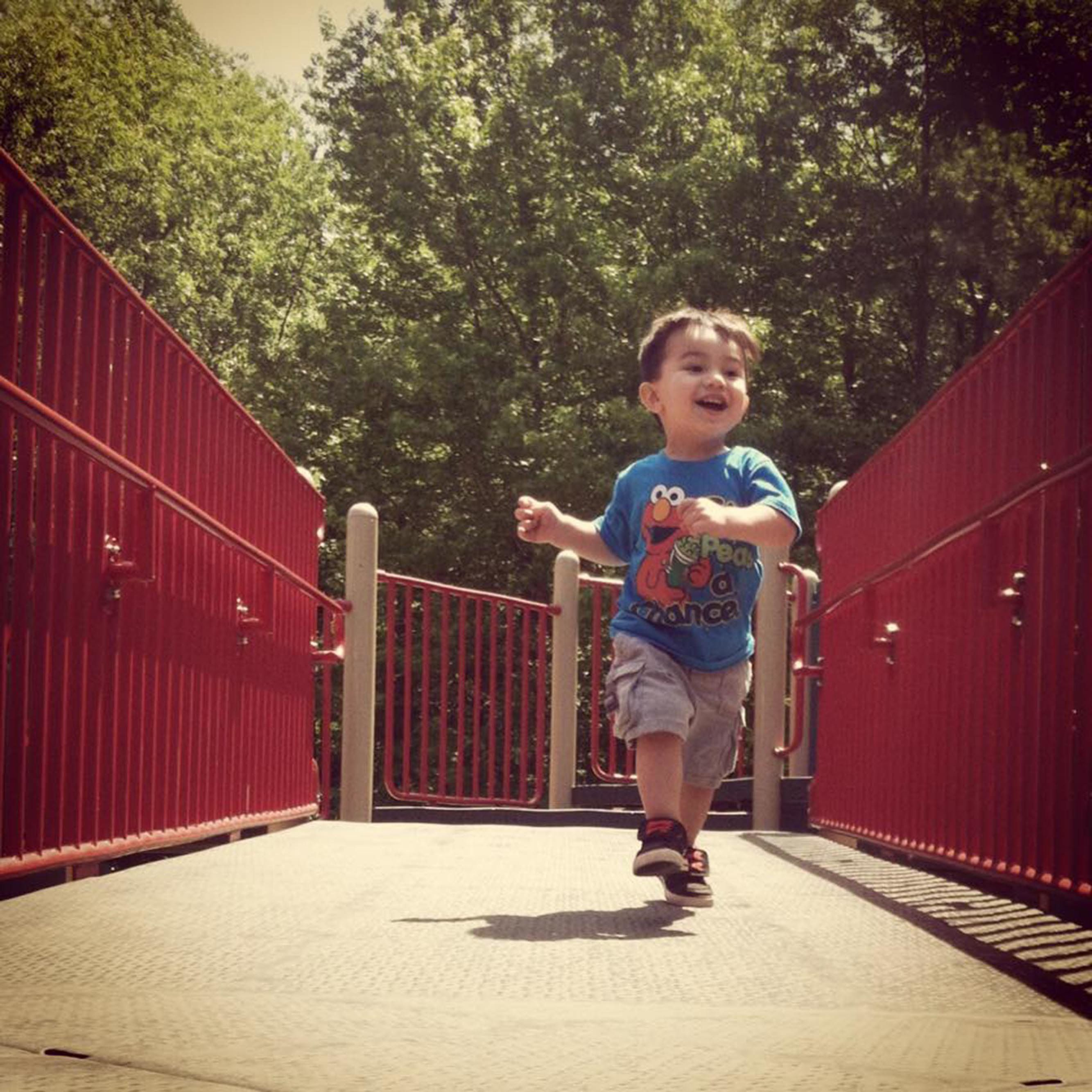 My son's happy place is any park where he can run free.