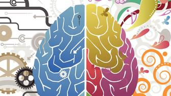 Vector File of Left and Right Brain