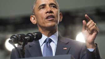 US President Barack Obama speaks at the 116th National Convention of the Veterans of Foreign Wars (VFW) at the David Lawrence Convention Center in Pittsburgh, Pennsylvania, July 21, 2015. AFP PHOTO / SAUL LOEB        (Photo credit should read SAUL LOEB/AFP/Getty Images)