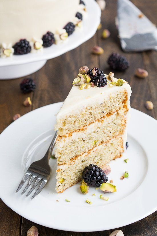 "<strong>Get the <a href=""http://www.handletheheat.com/layer-pistachio-cake/"" target=""_blank"">Three-Layer Pistachio Cake recip"