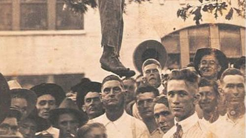 Lynchings of black folks were often public events -- like this one in Texas.