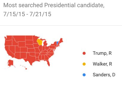 Donald Trump Is Currently The Most Googled Presidential