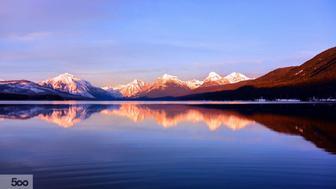 Sunset On Lake McDonald in Glacier National Park, Montana