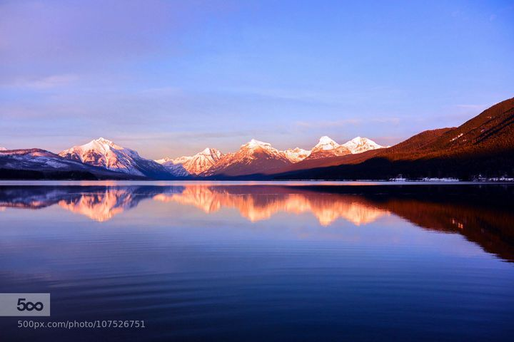 Sunset On Lake McDonald in Glacier National Park, Montana