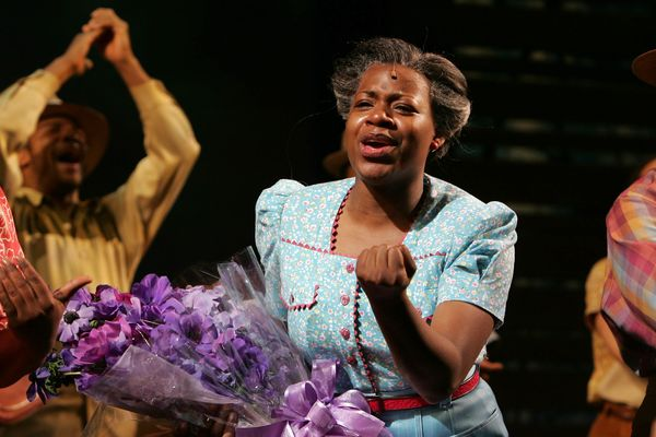 "Fantasia made her <a href=""http://www.broadway.com/buzz/stars/fantasia-barrino/profile/"">broadway debut as Celie</a> in"
