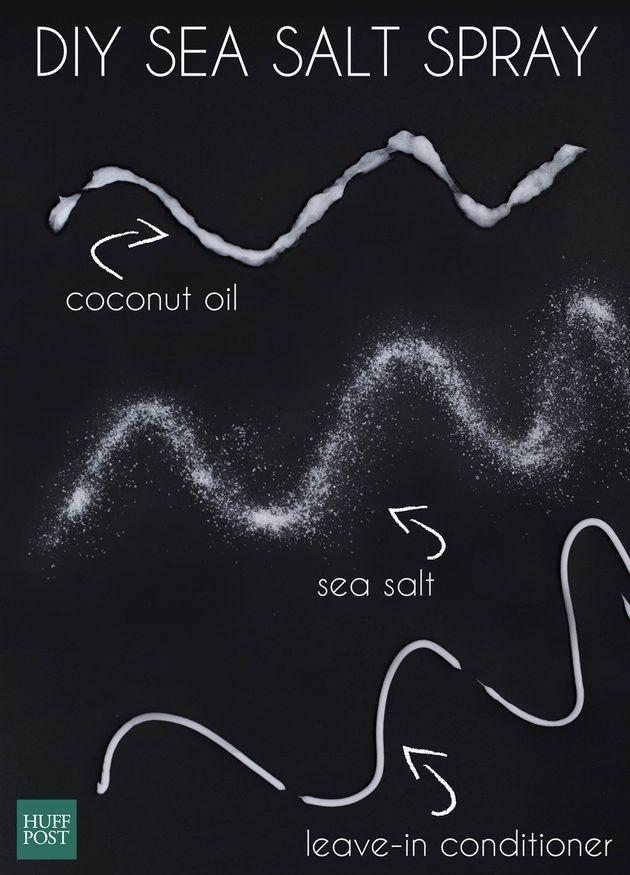 The Easiest DIY Sea Salt Spray For Soft, Beachy