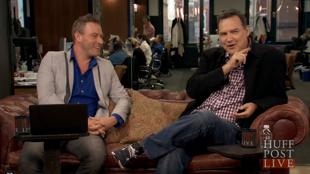 Norm Macdonald on the set of HuffPost Live