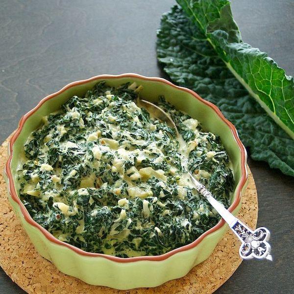 "<strong>Get the <a href=""http://www.ouichefnetwork.com/oui_chef/2012/03/creamed-kale-gratin.html"">Creamed Kale Gratin recipe"