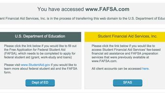 FAFSA.com screenshot