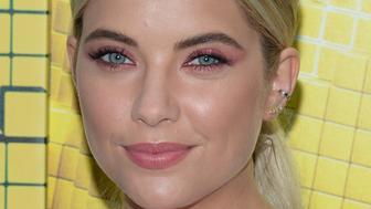Ashley Benson's pink eye makeup.