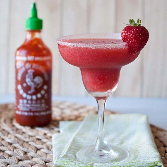 "<strong>Get the <a href=""http://domesticfits.com/2012/07/30/strawberry-sriracha-margarita/"" target=""_blank"">Strawberry Srirac"
