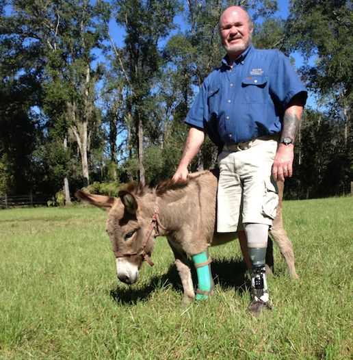 Ronnie Graves with his donkey, Luigi.