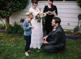 This 7-Year-Old Was The Raddest Ring Bearer At Her Mom's Wedding
