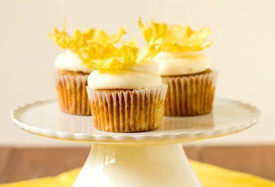 "<strong>Get the <a href=""http://www.browneyedbaker.com/2012/05/11/hummingbird-cupcakes-recipe/"" target=""_blank"">Hummingbird C"