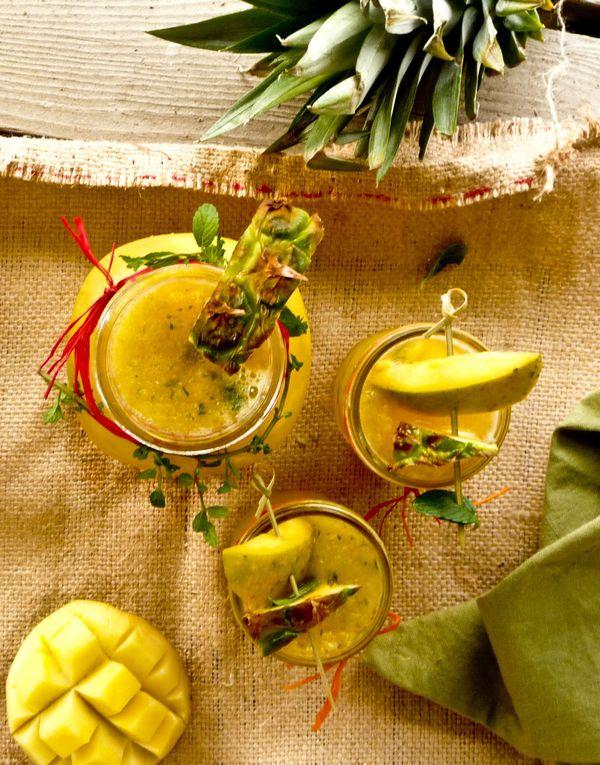 "<strong>Get the <a href=""http://food52.com/recipes/17340-mango-pineapple-non-alcoholic-sangria-sensational-and-refreshing-sum"
