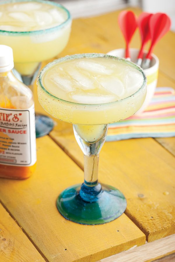 """<strong>Get the <a href=""""http://www.huffingtonpost.com/2012/06/21/spicy-pineapple-margarita_n_1615870.html"""" target=""""_blank"""">S"""