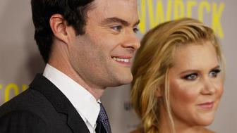 SYDNEY, AUSTRALIA - JULY 20:  Amy Schumer and Bill Hader arrive at the Trainwreck Australian premiere at Event Cinemas George Street on July 20, 2015 in Sydney, Australia.  (Photo by Brendon Thorne/Getty Images)