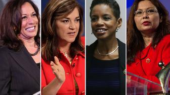 <p>Kamala Harris, Loretta Sanchez, Donna Edwards and Tammy Duckworth are running for Senate this cycle.</p>