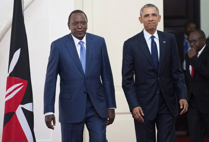 President Barack Obama spoke out forcefully in favor of LGBT equality during a press conference with Kenyan President&nbsp;<s