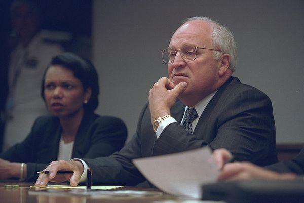 National Security Advisor Condoleezza Rice and Vice President Dick Cheney