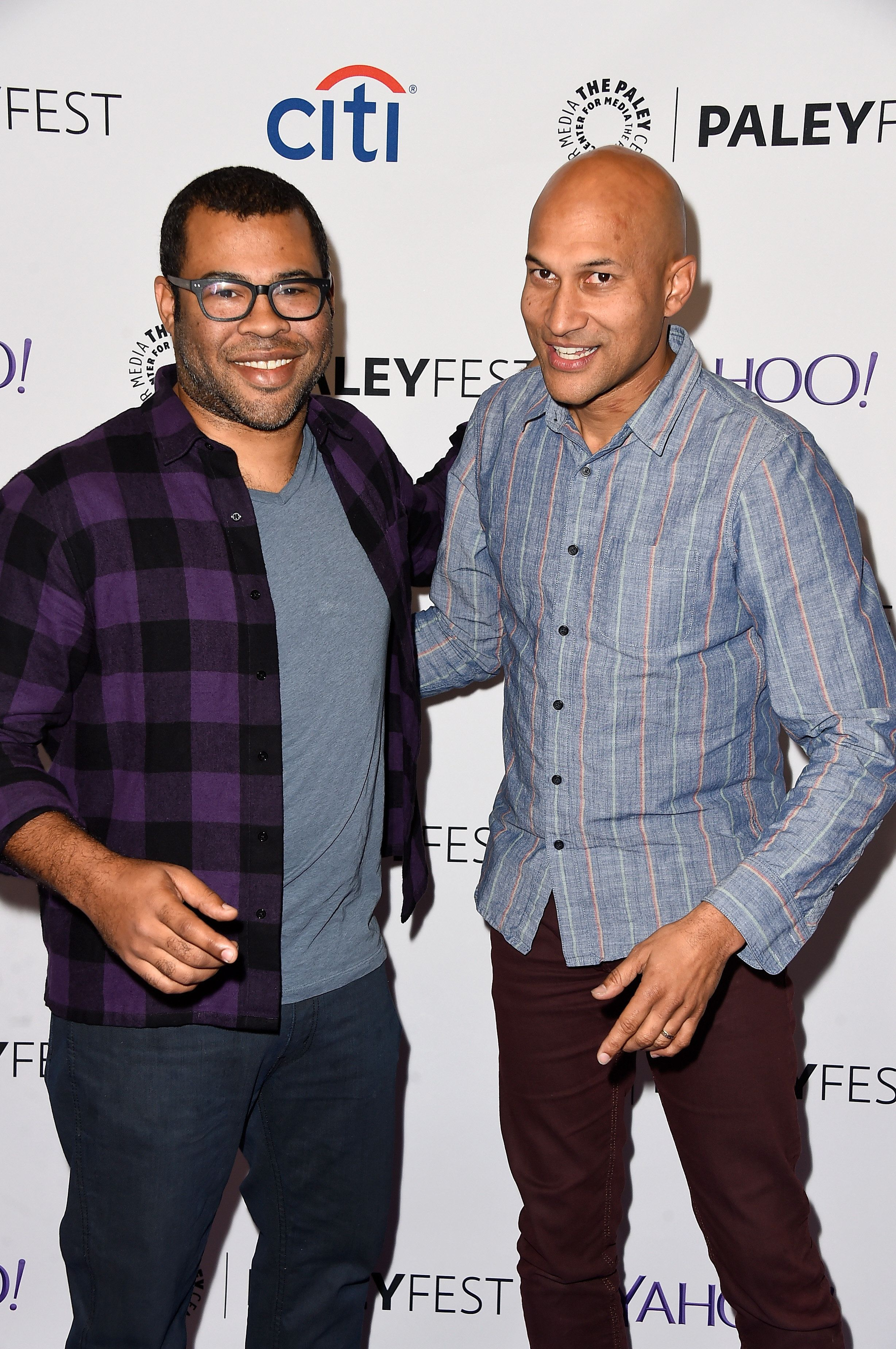 HOLLYWOOD, CA - MARCH 07:  (L-R) Comdeians Jordan Peele, Keegan-Michael Key arrive at The Paley Center For Media's 32nd Annual PALEYFEST LA - A Salute To Comedy Central at Dolby Theatre on March 7, 2015 in Hollywood, California.  (Photo by Frazer Harrison/Getty Images)