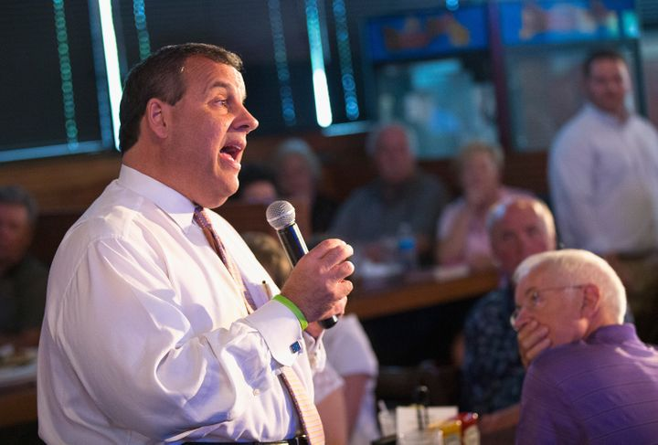 New Jersey Gov. Chris Christie (R) got into a heated exchange with an activist over gun control in Iowa on Saturday.